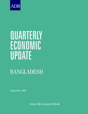 Bangladesh: Quarterly Economic Update