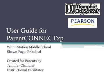 Parent Connect Presentation - Memphis City Schools