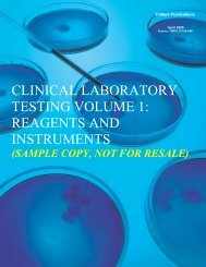 clinical laboratory testing volume 1: reagents and ... - SPI Information