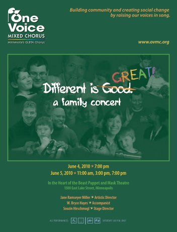 June 4, 2010 - One Voice Mixed Chorus