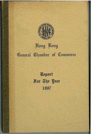 1897 - The Hong Kong General Chamber of Commerce