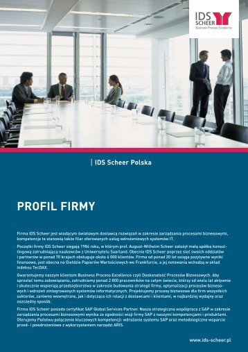 PROFIL FIRMY - IDS Scheer AG