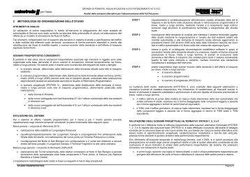 Cap. 2 Metodologia ed organizzazione dello studio. - Urban Center