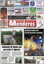 20 Ağustos Tarihli Küçükmenderes Gazetesi