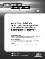 Recherche codisciplinaire sur les pratiques enseignantes - acelf