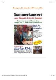 Klaverduo i Karise Kirke, søndag den 25. september 2005