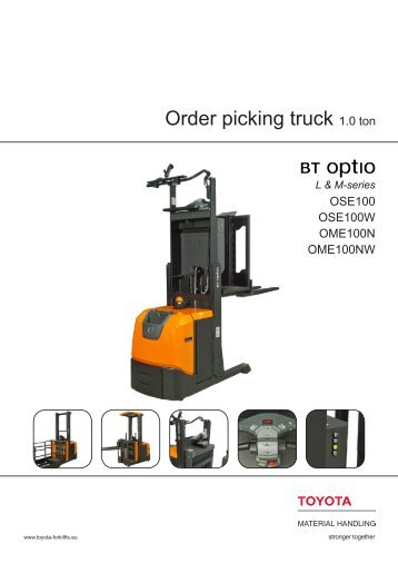BT Optio OSE/OME Datasheet   Toyota Material Handling Europe