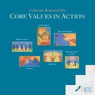 Core Values in Action booklet - Catholic Health Partners