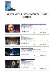 spettacoli - stagione 2011-2012 lirica - Circolounicreditcarire.it