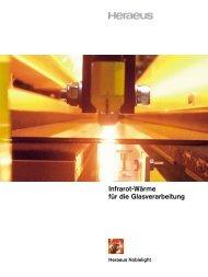 Infrarot in der Glasverarbeitung – effektive ... - Heraeus Noblelight