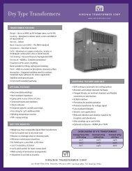 VTC-201_DryTypeSheet (Page 1) - Virginia Transformer Corp
