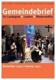 Gottesdienste - Ev.-Luth. Kirchgemeinde Dresden-Leuben
