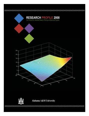 research profile 2008 - Alabama A&M University