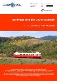 Auvergne und die Cevennenbahn 11. - 13. Juni 2011 (3 ... - SERVRail