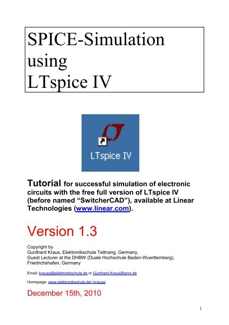 SPICE-Simulation using LTspice IV