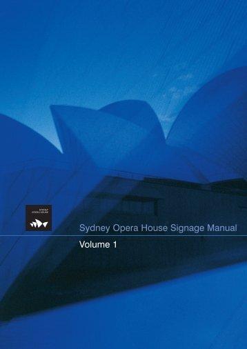 Sydney Opera House Signage Manual