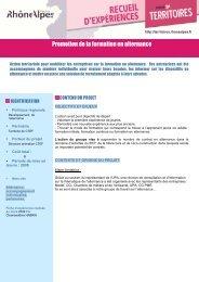 Promotion de la formation en alternance - Région Rhône-Alpes