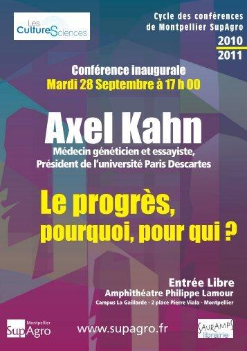 Programme - Montpellier SupAgro