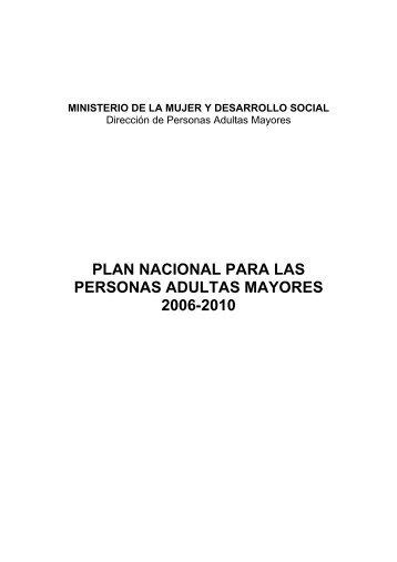 plan nacional para las personas adultas mayores ... - Grupo Vigencia