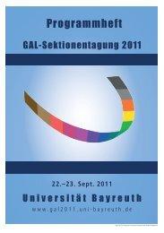 Programmheft - Gal - Universität Bayreuth