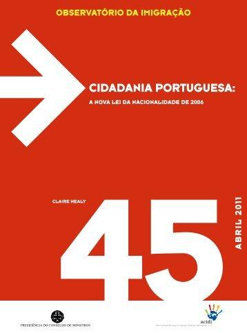 Cidadania Portuguesa: A nova Lei da Nacionalidade de 2006
