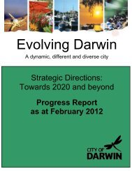 COVER PAGE - Darwin City Council - Northern Territory Government