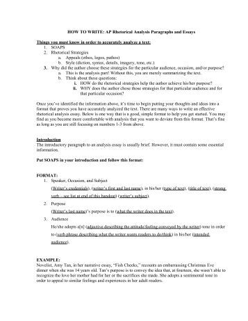 ap language and composition rhetorical analysis essay 2012