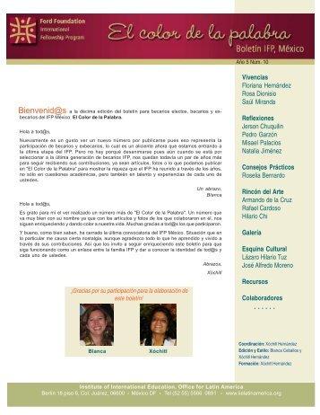 No. 10 - Programa Internacional de Becas de Posgrado - Ciesas