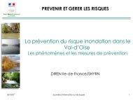 La prévention du risque inondation dans le Val-d'Oise