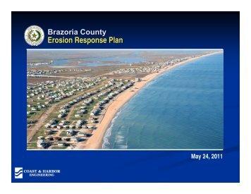 Draft Erosion Response Plan - Brazoria County
