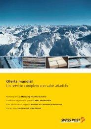 Oferta mundial Un servicio completo con valor añadido