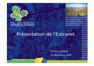 Présentation de l'Extranet