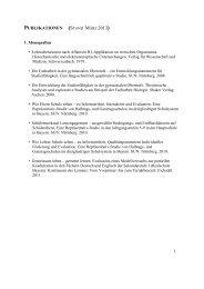 PUBLIKATIONEN (STAND MÄRZ 2013)