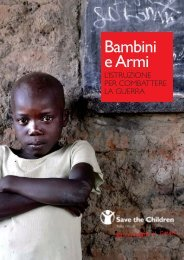 Bambini e Armi - Save the Children Italia Onlus