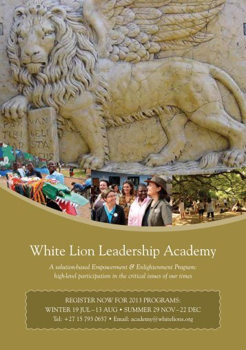 White Lion Leadership Academy - Transformational Tours