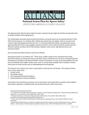 National Action Plan for Sports Safety - AAHPERD