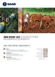 SM-EOD 33 CONTACT FREE DEMINING EQUIPMENT - Saab