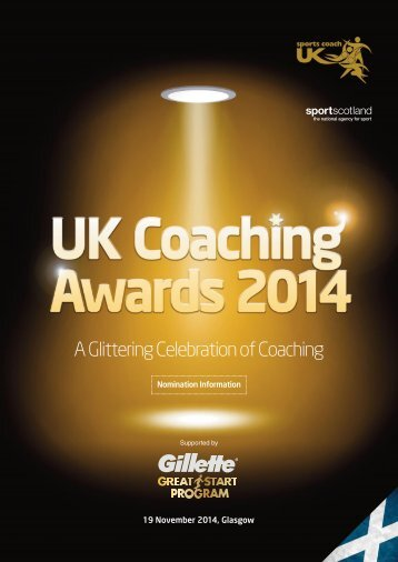 91108 COMM UK Coaching Awards Nomination Information
