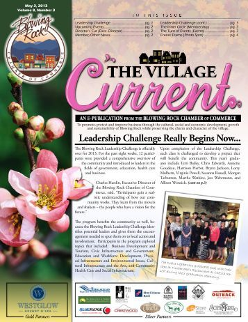 May 3, 2013 - Blowing Rock Chamber of Commerce