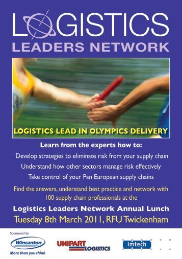 Logistics Leaders Lunch Booking Form