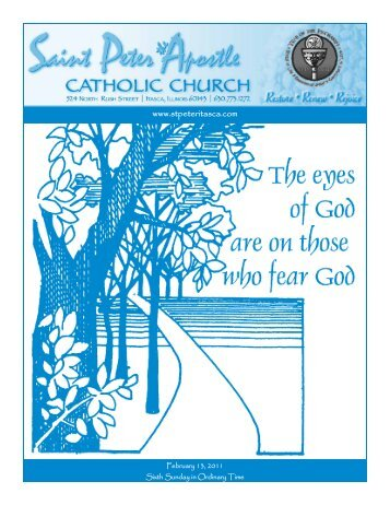 Bulletin - February 13, 2011 - Saint Peter The Apostle Catholic Church