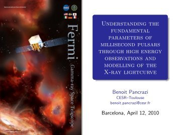 Understanding the fundamental parameters of millisecond pulsars ...