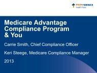 (MA) Compliance Training - Providence Health Plan