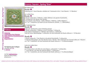 "Granny Square ""Spring Time"" Videos Runde Runde ... - Nadelspiel"