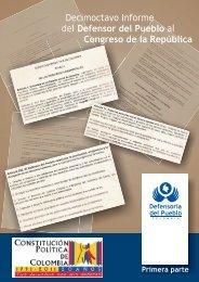 Decimoctavo Informe del Defensor del Pueblo al Congreso de la ...
