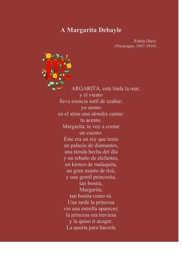 A Margarita Debayle - Sinabi