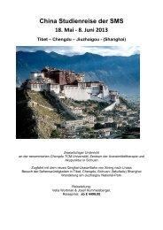 China Studienreise der SMS 18. Mai - 8. Juni 2013 Tibet ... - SMS Blog