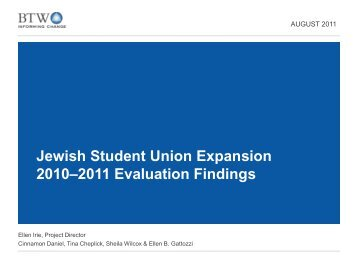 2010-2011 Evaluation Findings - Jim Joseph Foundation