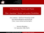 IT-Security in Theorie und Praxis - RedTeam Pentesting GmbH