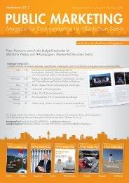 Public Marketing Mediadaten 2012 - New Business Verlag